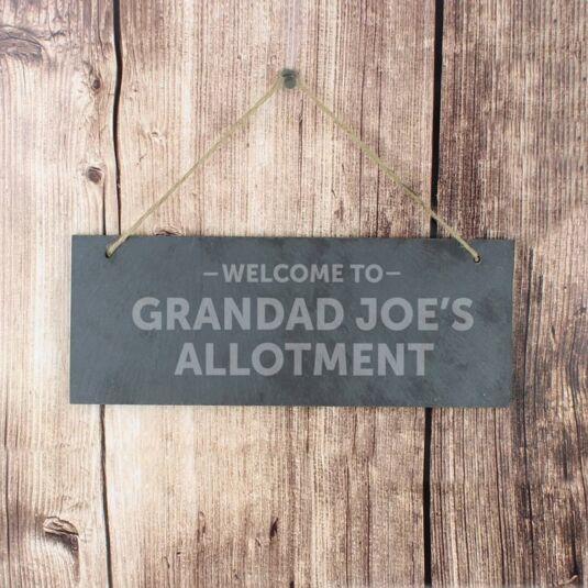 Personalised Welcome To... Slate Door Sign