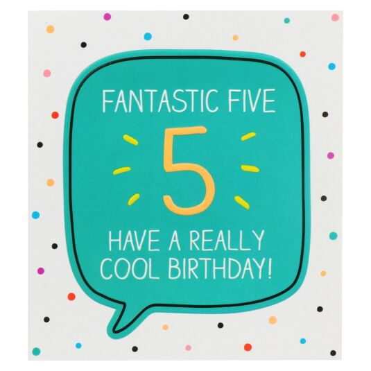 'Fantastic Five Cool Birthday!' Card