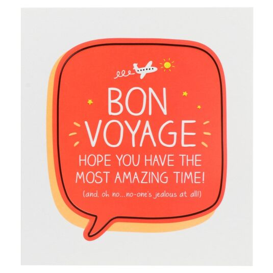 'BON VOYAGE!' Leaving Card