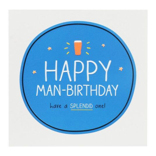 'Happy Man-Birthday!' Card