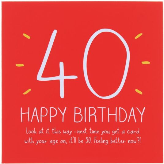 40th Happy Birthday! Card