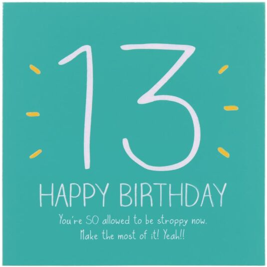 13th Happy Birthday! Card