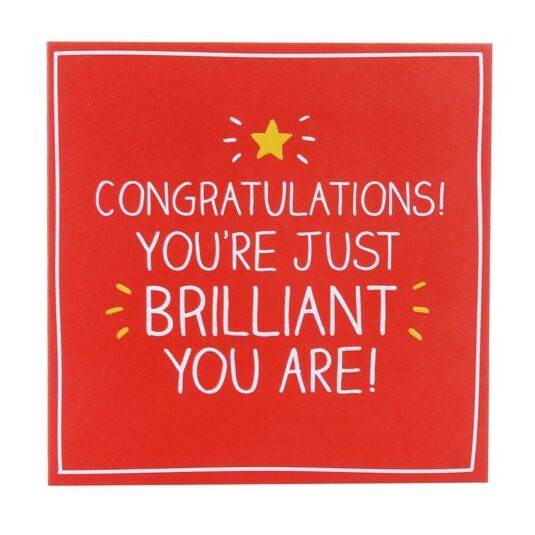 Congratulations! You're Just Brilliant Card