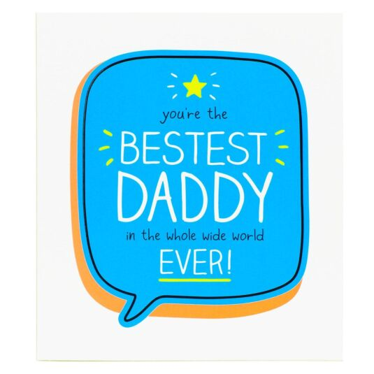 Bestest Daddy Father's Day Card