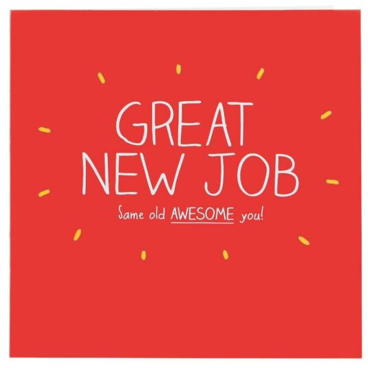 Great New Job Card