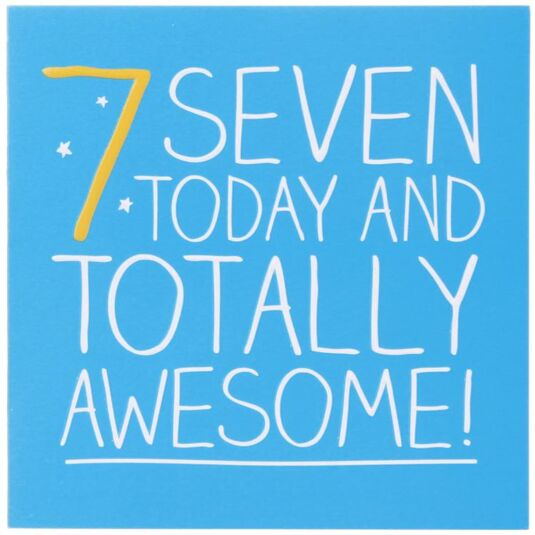 7 Totally Awesome! Birthday Card