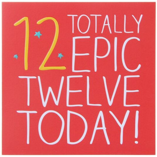 12 Totally Epic Birthday Card
