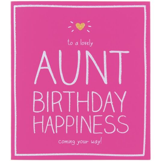 Lovely Aunt Birthday Card
