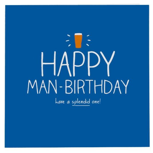 Happy Man-Birthday Card