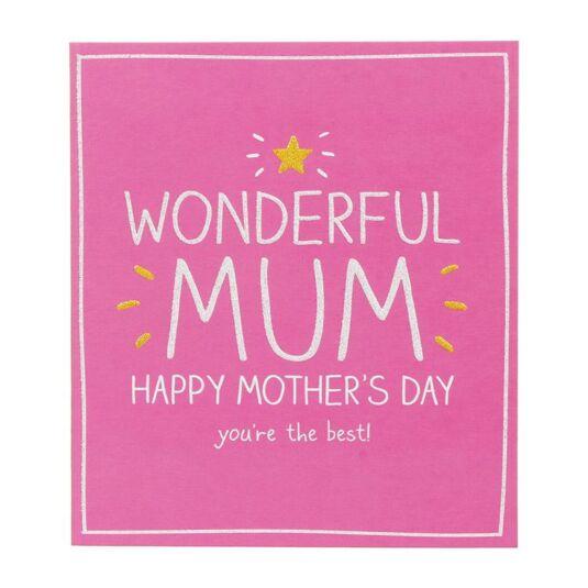 Wonderful Mum Mother's Day Card