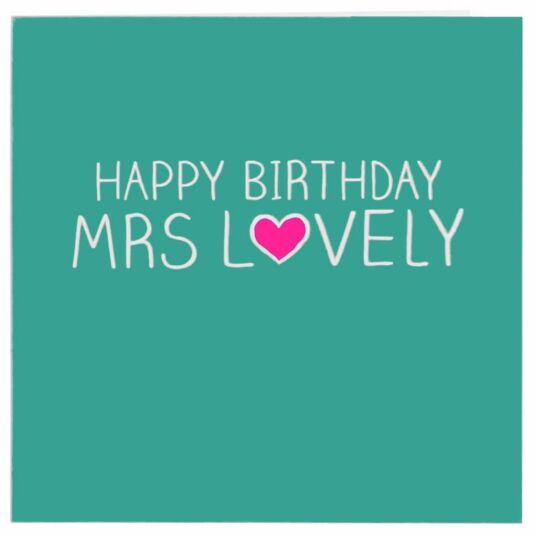 Mrs Lovely Card