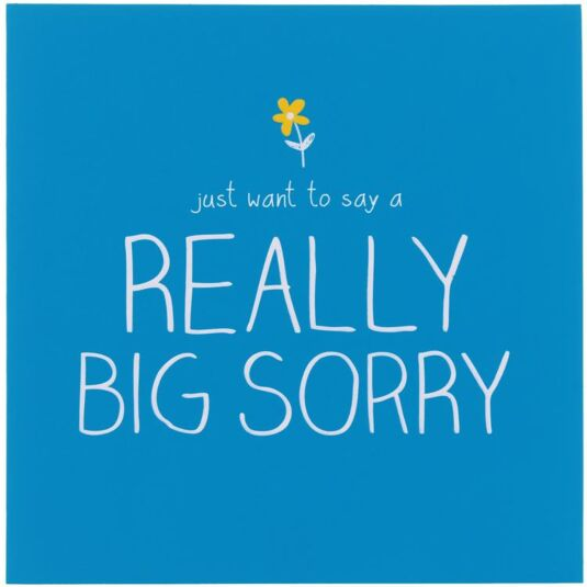 Really Big Sorry Card