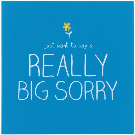 Really Big Sorry Card