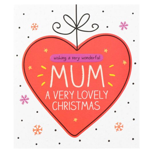 'Mum Very Lovely Christmas' Christmas Card
