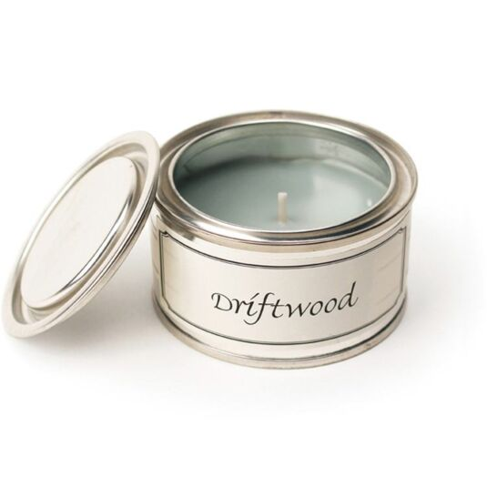 Driftwood Tin Candle