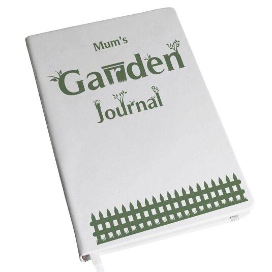 Personalised Garden Journal Hardback A5 Notebook
