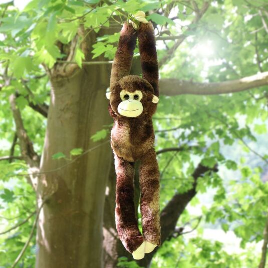 Cuddle Crew Chocolate Brown Hanging Monkey