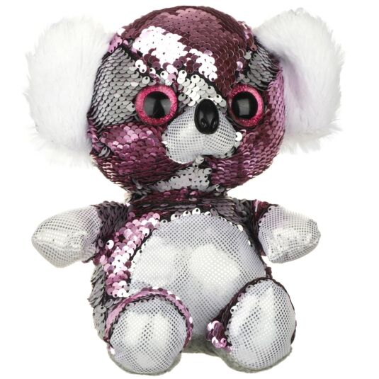 Sequin Glitzies Medium Pink and Silver Koala