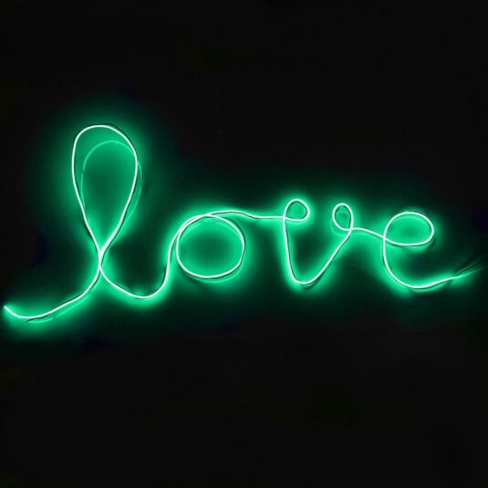 Green DIY Neon Sign