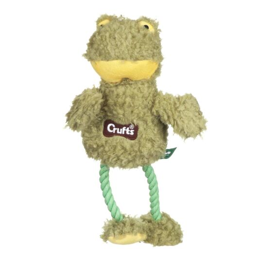 Fluffy Squeaky Frog Dog Toy