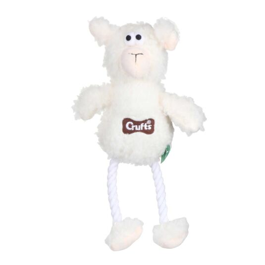Fluffy Squeaky Sheep Dog Toy