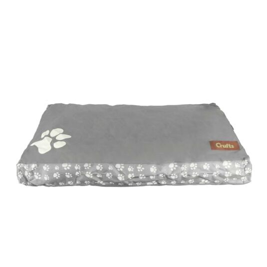 Light Grey Waterproof Mattress Dog Bed - Medium