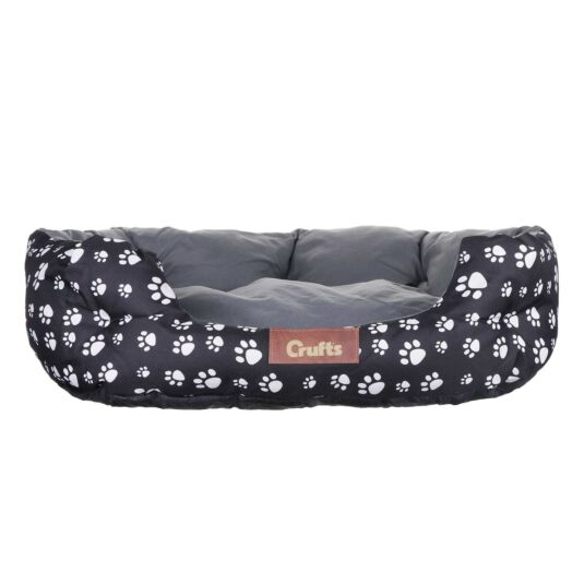 Black Waterproof Cosy Dog Bed - Medium