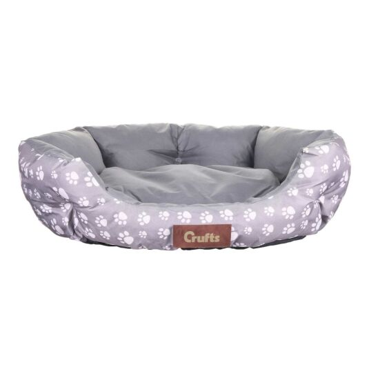 Light Grey Waterproof Cosy Dog Bed - Medium