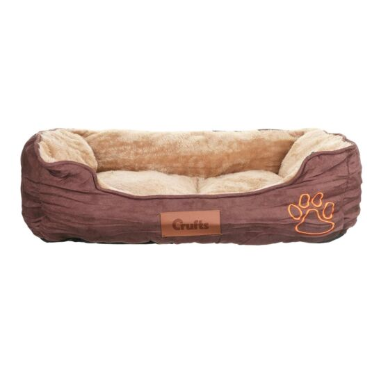 Dark Brown Cosy Dog Bed - Medium
