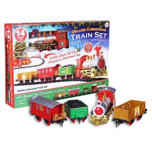 Deluxe 14 Piece Christmas Train Set