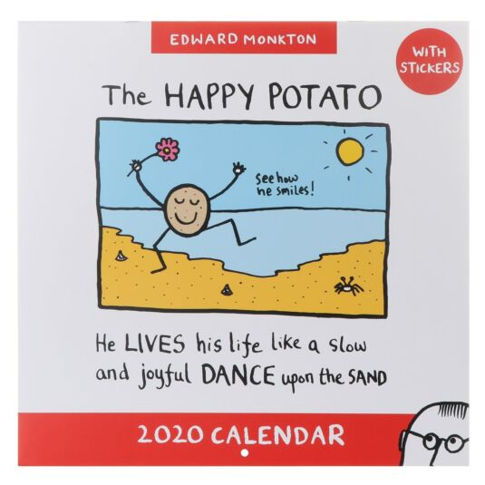 2020 Square Wall Calendar with Stickers
