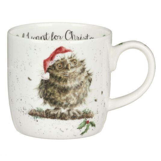'Owl I Want For Christmas' Owl Mug