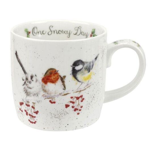 Christmas Birds Mug 'One Snowy Day'