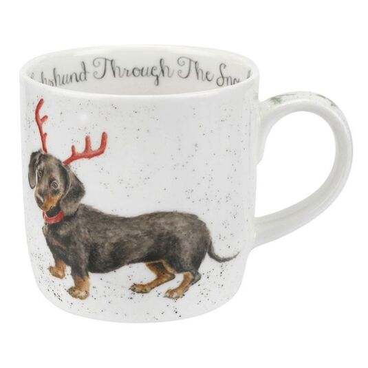 Christmas Dog Mug 'Dachshund Through The Snow'