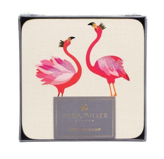 Set of 6 Square Flamingo Coasters