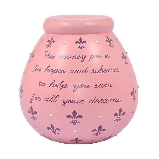 Pink Fleur De Lis Money Pot
