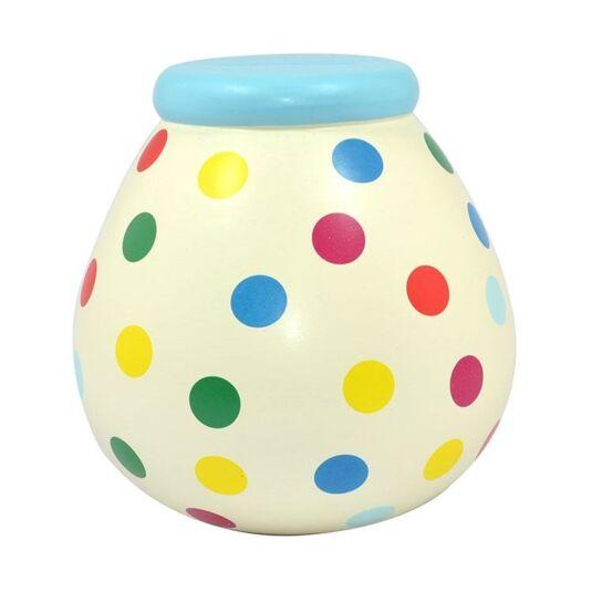 Multicoloured Spots Money Pot