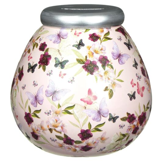 Butterfly Floral Money Pot