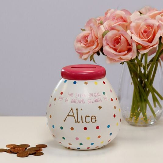 Personalised Polka-Dot Money Pot