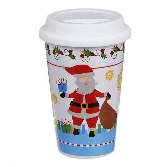 Santa/Snowman/Reindeer Ceramic Travel Mug
