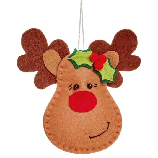 Reindeer Head Tree Decoration