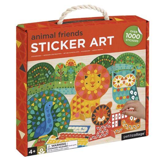 Animal Friends Sticker Art Play Set