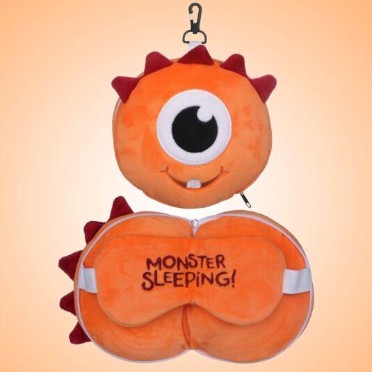 Resteazzz Orange Monstarz Monster Travel Pillow & Eye Mask