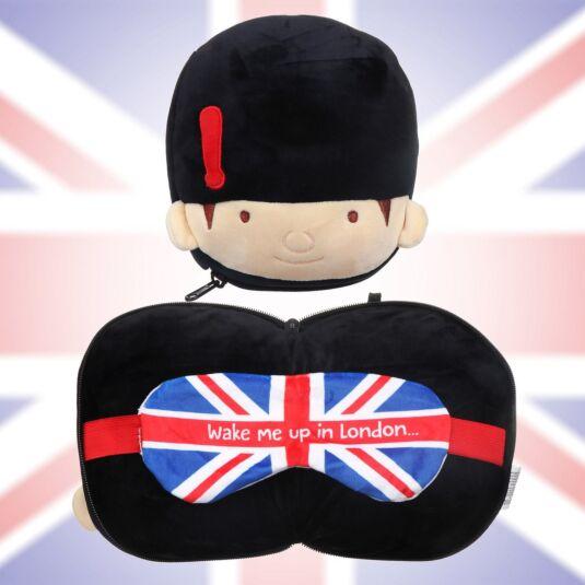 Resteazzz Guardsman Travel Pillow & Eye Mask