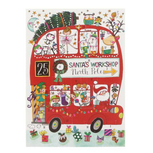 Christmas Bus Advent Card