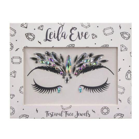 Leila Eve Silver Iridescent Festival Face Gems