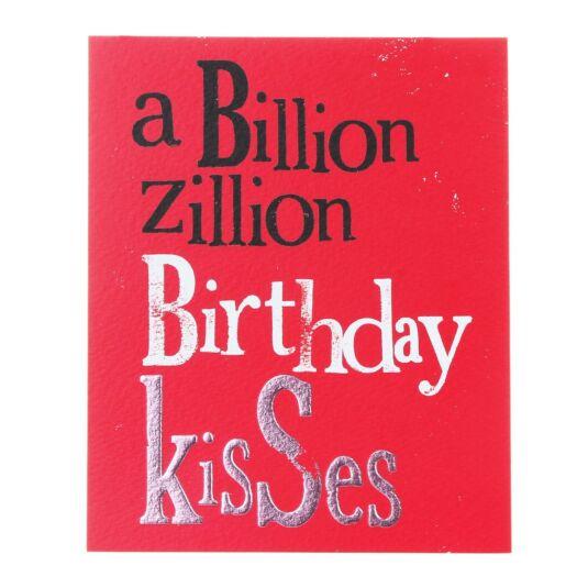 A Billion Zillion Birthday Kisses Greetings Card