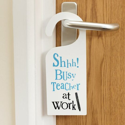 the bright side shhh busy teacher at work sign campus gifts