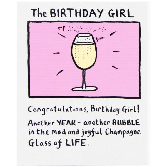 The Birthday Girl Card