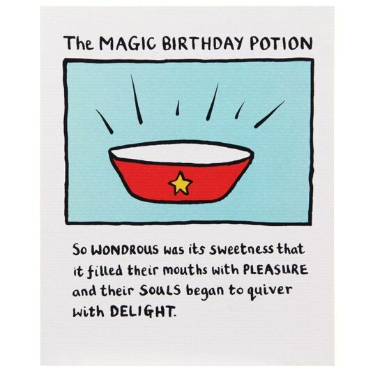 The Magic Birthday Potion Card